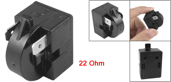 refrigerator parts 22 ohm 2 pins ptc starter relay blk ebay. Black Bedroom Furniture Sets. Home Design Ideas